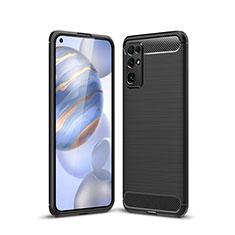 Coque Silicone Housse Etui Gel Line pour Huawei Honor 30 Noir