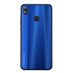 Coque Silicone Housse Etui Gel Line pour Huawei Honor V10 Lite Bleu