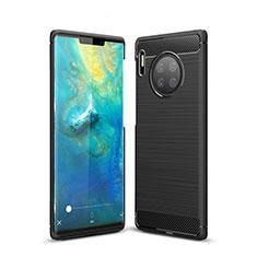Coque Silicone Housse Etui Gel Line pour Huawei Mate 30 Pro 5G Noir
