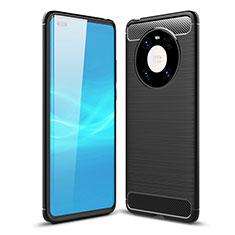 Coque Silicone Housse Etui Gel Line pour Huawei Mate 40 Pro Noir