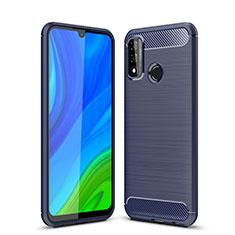 Coque Silicone Housse Etui Gel Line pour Huawei P Smart (2020) Bleu