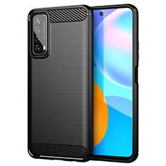 Coque Silicone Housse Etui Gel Line pour Huawei P Smart (2021) Noir