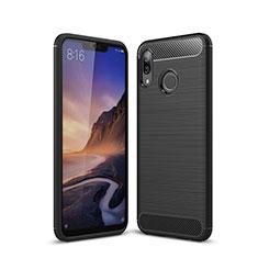 Coque Silicone Housse Etui Gel Line pour Huawei P20 Lite Noir