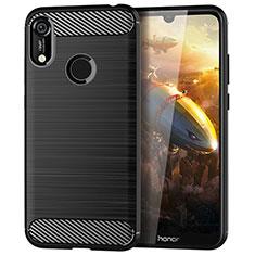 Coque Silicone Housse Etui Gel Line pour Huawei Y6 Prime (2019) Noir