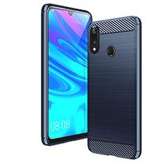 Coque Silicone Housse Etui Gel Line pour Huawei Y7 (2019) Bleu