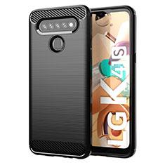 Coque Silicone Housse Etui Gel Line pour LG K41S Noir