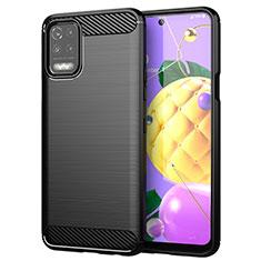 Coque Silicone Housse Etui Gel Line pour LG K52 Noir