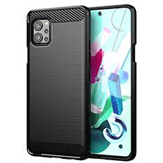 Coque Silicone Housse Etui Gel Line pour LG Q92 5G Noir