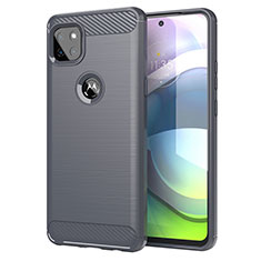 Coque Silicone Housse Etui Gel Line pour Motorola Moto G 5G Gris