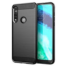 Coque Silicone Housse Etui Gel Line pour Motorola Moto G Fast Noir