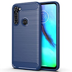Coque Silicone Housse Etui Gel Line pour Motorola Moto G Pro Bleu