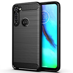 Coque Silicone Housse Etui Gel Line pour Motorola Moto G Stylus Noir