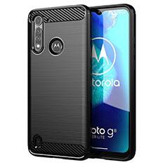 Coque Silicone Housse Etui Gel Line pour Motorola Moto G8 Power Lite Noir