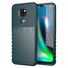 Coque Silicone Housse Etui Gel Line pour Motorola Moto G9 Play Vert