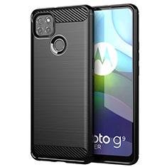 Coque Silicone Housse Etui Gel Line pour Motorola Moto G9 Power Noir