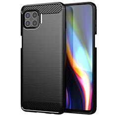 Coque Silicone Housse Etui Gel Line pour Motorola Moto One 5G Noir