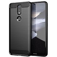Coque Silicone Housse Etui Gel Line pour Nokia 2.4 Noir