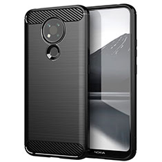 Coque Silicone Housse Etui Gel Line pour Nokia 3.4 Noir