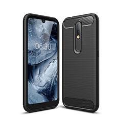 Coque Silicone Housse Etui Gel Line pour Nokia 4.2 Noir