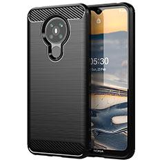 Coque Silicone Housse Etui Gel Line pour Nokia 5.3 Noir