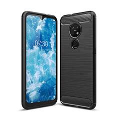 Coque Silicone Housse Etui Gel Line pour Nokia 6.2 Noir