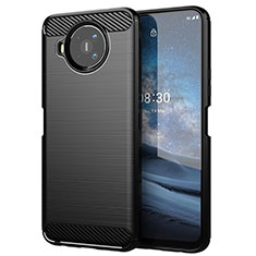 Coque Silicone Housse Etui Gel Line pour Nokia 8.3 5G Noir