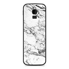 Coque Silicone Housse Etui Gel Line pour Nokia 8110 (2018) Blanc
