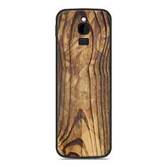 Coque Silicone Housse Etui Gel Line pour Nokia 8110 (2018) Marron