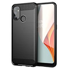 Coque Silicone Housse Etui Gel Line pour OnePlus Nord N100 Noir