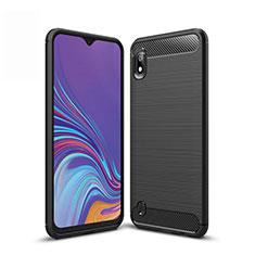 Coque Silicone Housse Etui Gel Line pour Samsung Galaxy A10 Noir