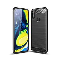 Coque Silicone Housse Etui Gel Line pour Samsung Galaxy A11 Noir