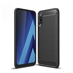 Coque Silicone Housse Etui Gel Line pour Samsung Galaxy A30S Noir