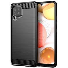 Coque Silicone Housse Etui Gel Line pour Samsung Galaxy A42 5G Noir