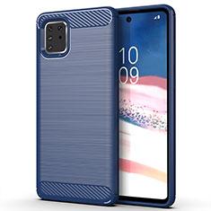 Coque Silicone Housse Etui Gel Line pour Samsung Galaxy A81 Bleu