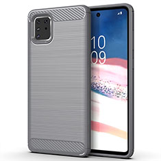 Coque Silicone Housse Etui Gel Line pour Samsung Galaxy A81 Gris