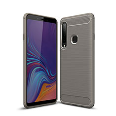 Coque Silicone Housse Etui Gel Line pour Samsung Galaxy A9s Gris
