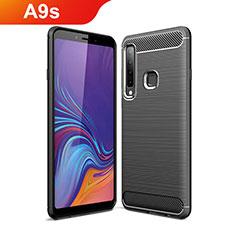 Coque Silicone Housse Etui Gel Line pour Samsung Galaxy A9s Noir