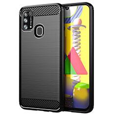 Coque Silicone Housse Etui Gel Line pour Samsung Galaxy M21s Noir