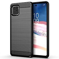Coque Silicone Housse Etui Gel Line pour Samsung Galaxy M60s Noir