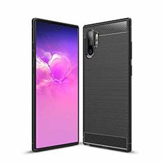 Coque Silicone Housse Etui Gel Line pour Samsung Galaxy Note 10 Plus 5G Noir