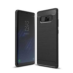 Coque Silicone Housse Etui Gel Line pour Samsung Galaxy Note 8 Noir