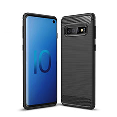 Coque Silicone Housse Etui Gel Line pour Samsung Galaxy S10 5G Noir