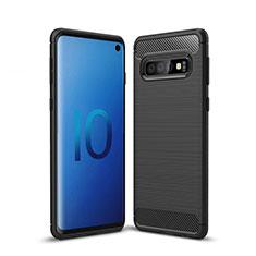 Coque Silicone Housse Etui Gel Line pour Samsung Galaxy S10 Noir