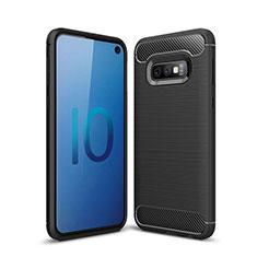 Coque Silicone Housse Etui Gel Line pour Samsung Galaxy S10e Noir