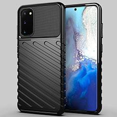 Coque Silicone Housse Etui Gel Line pour Samsung Galaxy S20 5G Noir