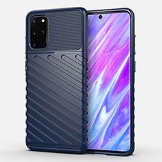Coque Silicone Housse Etui Gel Line pour Samsung Galaxy S20 Plus 5G Bleu