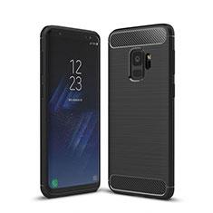 Coque Silicone Housse Etui Gel Line pour Samsung Galaxy S9 Noir
