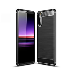 Coque Silicone Housse Etui Gel Line pour Sony Xperia 10 II Noir