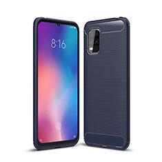 Coque Silicone Housse Etui Gel Line pour Xiaomi Mi 10 Lite Bleu