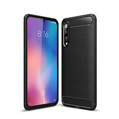 Coque Silicone Housse Etui Gel Line pour Xiaomi Mi 9 Noir